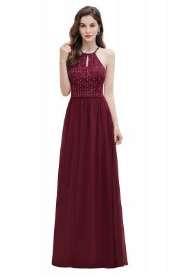 Halter Sequins A-line Evening Dress Chiffon Elegant Party Maxi Dress_1