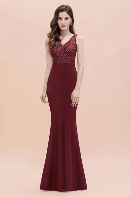V-Neck Mermaid Evening Dress Sequins Chiffon Slim Party Dress_4