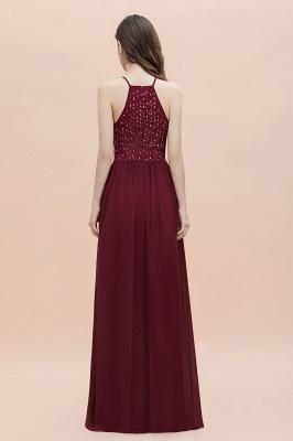 Halter Sequins A-line Evening Dress Chiffon Elegant Party Maxi Dress_6