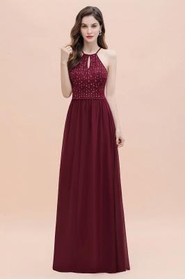 Halter Sequins A-line Evening Dress Chiffon Elegant Party Maxi Dress_5