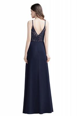 Elegant V-Neck Chiffon Evening Prom Dress for Women Straps Formal Maxi Dress_11