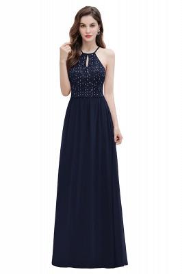 Halter Sequins A-line Evening Dress Chiffon Elegant Party Maxi Dress_12