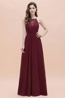 Straps Bateau A-line Sequins Evening Maxi Dress Elegant Chiffon Prom Dress_8