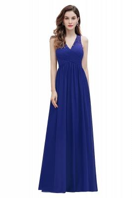 V-Neck A-line Chiffon Evening Maxi Dress Sleeveless Bridesmaid Wedding Guest Dress_2