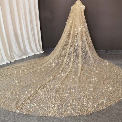 Cheap Tulle BlingBling Cut Edge 3*3M Wedding Veils