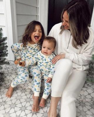 Women White Long Sleeves Pajamas V Neck_4