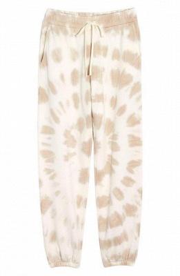 Women White Tie-dyed Pajamas Long Sleeves_4