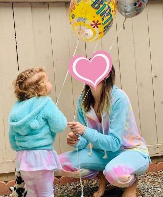 Women's Long Sleeves Tie-dyed Pajamas Cotton_5