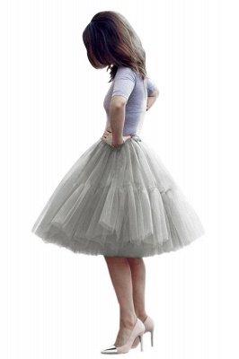 Elegant Tulle Short Ball-Gown Knee Length Elastic Women Skirts_16