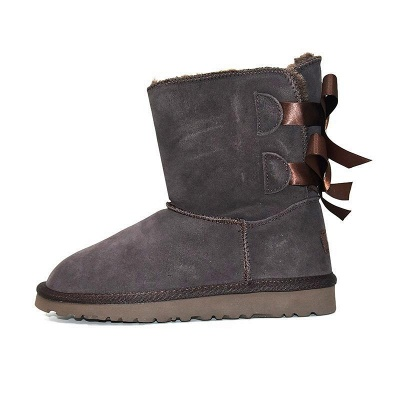sexy Black Women Snow Boot Warm Plush Ankle Shoes_3
