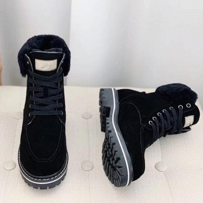 New Women Snow Boots   Waterproof Ankle Shoes_4