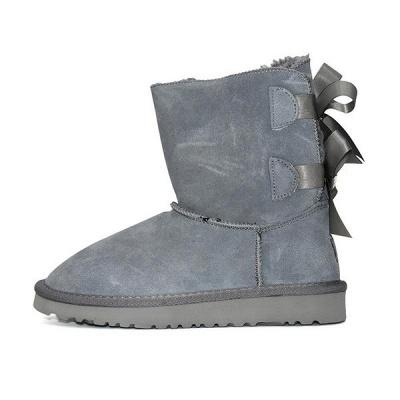 sexy Black Women Snow Boot Warm Plush Ankle Shoes_1