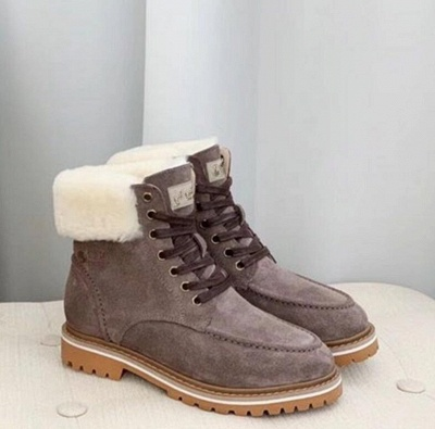 New Women Snow Boots   Waterproof Ankle Shoes_2