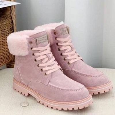 New Women Snow Boots   Waterproof Ankle Shoes_6