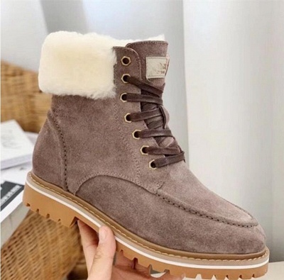New Women Snow Boots   Waterproof Ankle Shoes_5