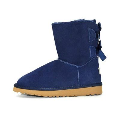 sexy Black Women Snow Boot Warm Plush Ankle Shoes_4