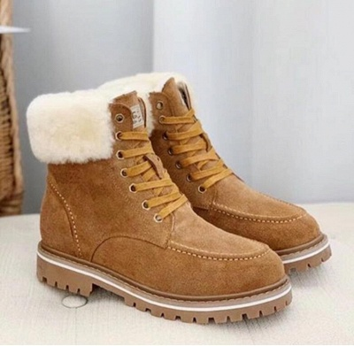 New Women Snow Boots   Waterproof Ankle Shoes_3