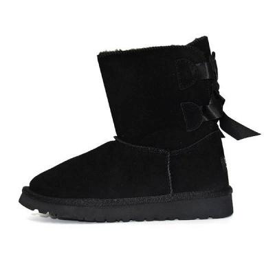 sexy Black Women Snow Boot Warm Plush Ankle Shoes_2