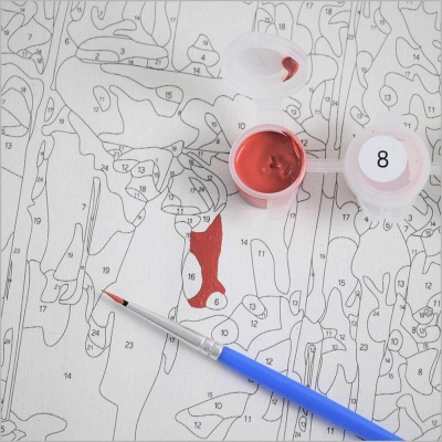 Paint By Numbers Kit-Snowman_6
