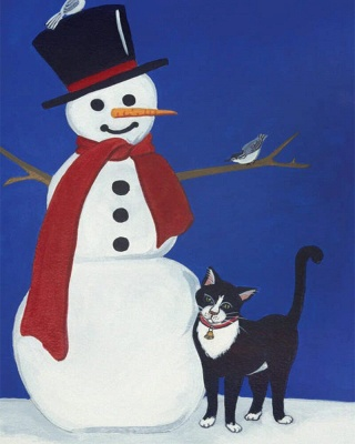 Paint By Numbers Kit-Snowman_2