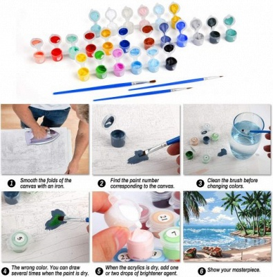 Paint By Numbers Kit-Snowman_3
