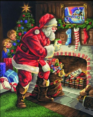 Santa Claus is In Our House – People Paint By Number