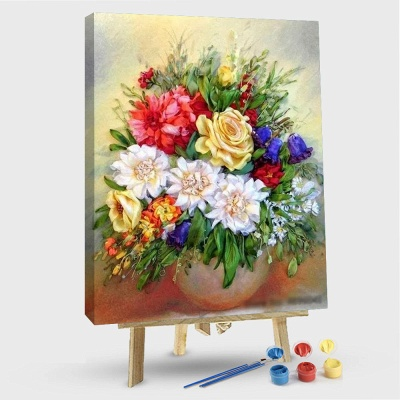 Garden Roses – Flowers Paint By Number_1