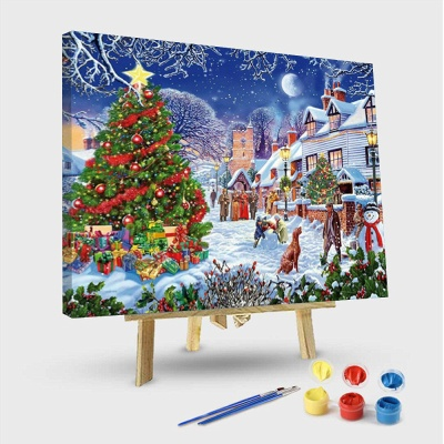 Paint By Numbers Kit - Christmas in the Town
