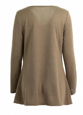 Knitwear Solid Color Asymmetric Long Roll Up Sleeve Women's Sweatershit_6
