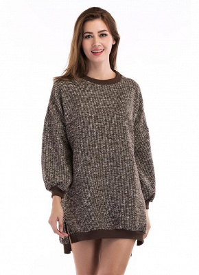 Fashion Knitted Sweater Long Sleeve Loose Women's Pullover_1
