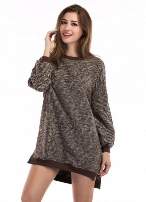 Fashion Knitted Sweater Long Sleeve Loose Women's Pullover_4