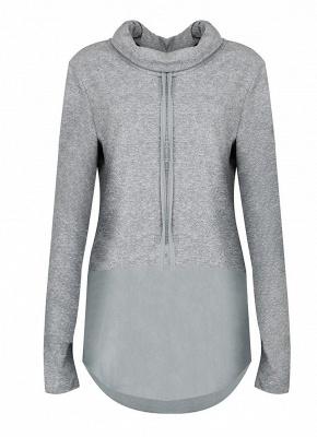 Women Warm Casual Drawstring Sweatshirt_5