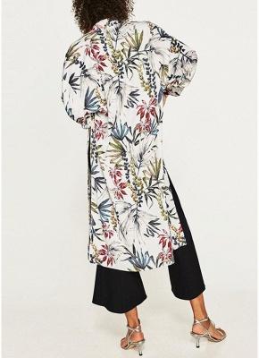 Women Flower Print Sash Kimono Shirt Retro Bandage Cardigan Blouse Top_3