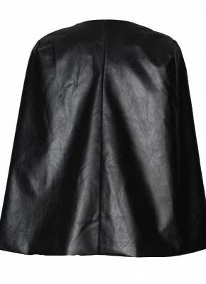Fashion Women PU Leather Jacket Open Front Split Loose Cape Cloak Outerwear_5