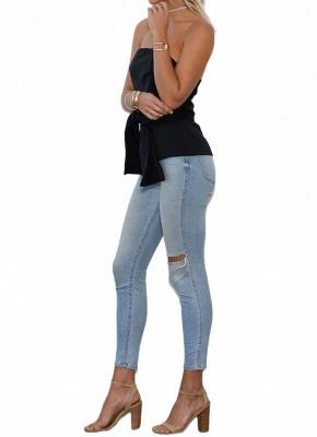 Women Strapless Top Bralette Camisole Tank Solid Elegant Party Clubwear_5