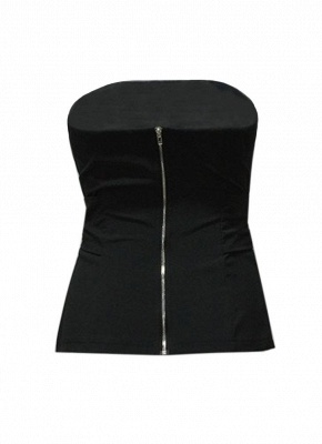 Women Strapless Top Bralette Camisole Tank Solid Elegant Party Clubwear_8