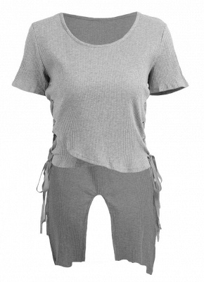 Sexy Women Knitted Sweater Cross Lace Up Bandage High-Low Hem Slim Tops Tee Pullover Knitwear_4