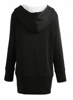 Women Autumn Winter Warm Coat Zipper Outerwear Hooded Sweatshirts_5
