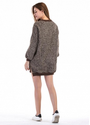Fashion Knitted Sweater Long Sleeve Loose Women's Pullover_8