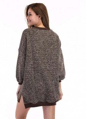 Fashion Knitted Sweater Long Sleeve Loose Women's Pullover_6