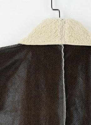 Suede Faux Fur Lapel Fleece Long Waistcoat_6