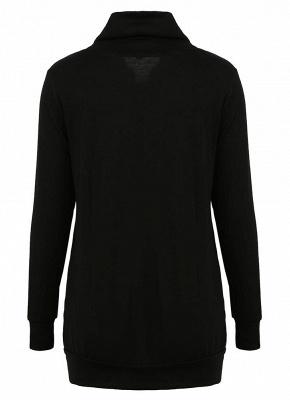 Women Sweatshirts Turtle Neck Pockets Pullover Long Loose Blouse Outwear Tops_4