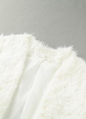 Winter Women Fluffy Faux Fur Coat Soft Lining Warm Solid Elegant Midi Outerwear Overcoat_6