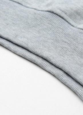 Fashion Side Zipper Hooded Neck Drawstring Long Sleeves Women's Hoodies_12