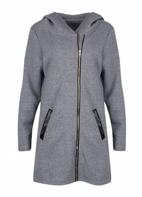 Women Casual Zip Up Hoodie Long Sleeves Pockets Sweatshirt Coat_5