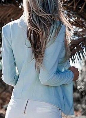 Autumn Women Slim Fit Long Sleeves Open Front Blazer Jacket_5