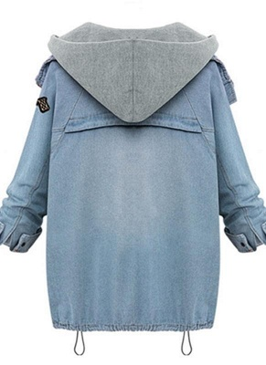Fashion Women Denim Overld Two Piece Set Light Blue_3