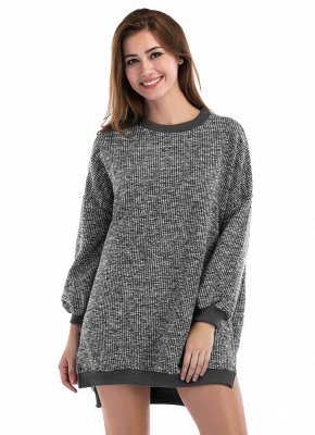 Fashion Knitted Sweater Long Sleeve Loose Women's Pullover_2