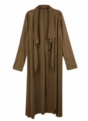 Fashion Drape Waterfall Long Sleeve Maxi Cardigan_2