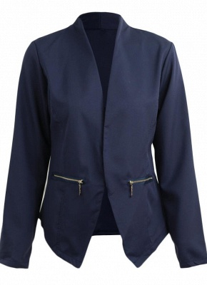 Autumn Spring Business Suit High-Low Women Blazer Coat_7